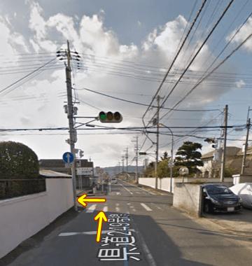 豊浦信号付近