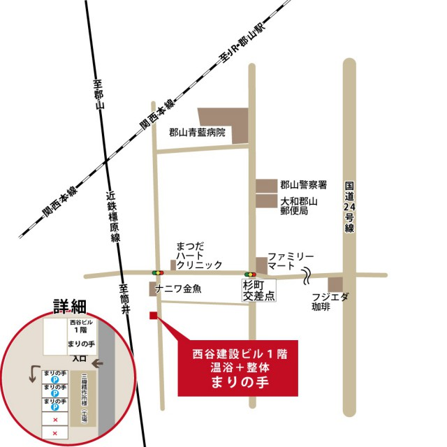 近隣の地図(イラスト)