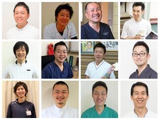 まりの手を推薦する全国の同業者院長12名の写真(リンクページへ)