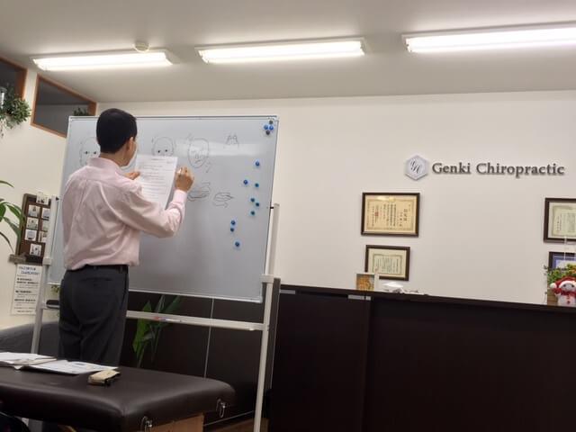 セミナー風景。講師の山本先生近影