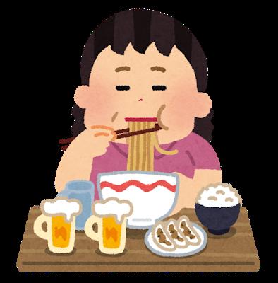 食べ過ぎのイメージ